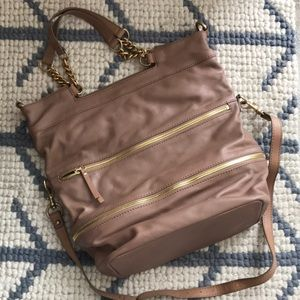Jcrew Collection leather zipper bag